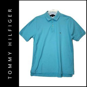 Tommy Hilfiger Men Short Sleeve Polo Shirt Size L